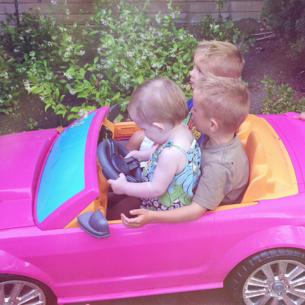 Riding off in cars with boys…